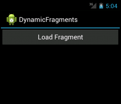 Dynamically add Fragments to an Activity in Android