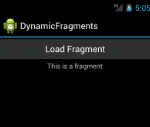 Main Activity with a dynamically added fragment