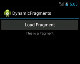 Dynamically adding fragments
