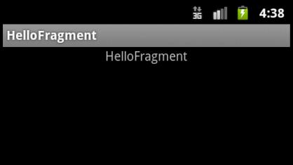 Hello Fragment