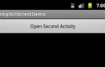 Access an activity using implicit intents in Android