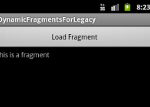 Main Activity with dynamically added fragment
