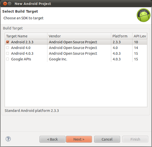 Android Build Target