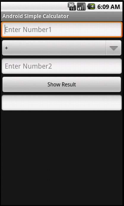Screenshot of the Simple Calculator