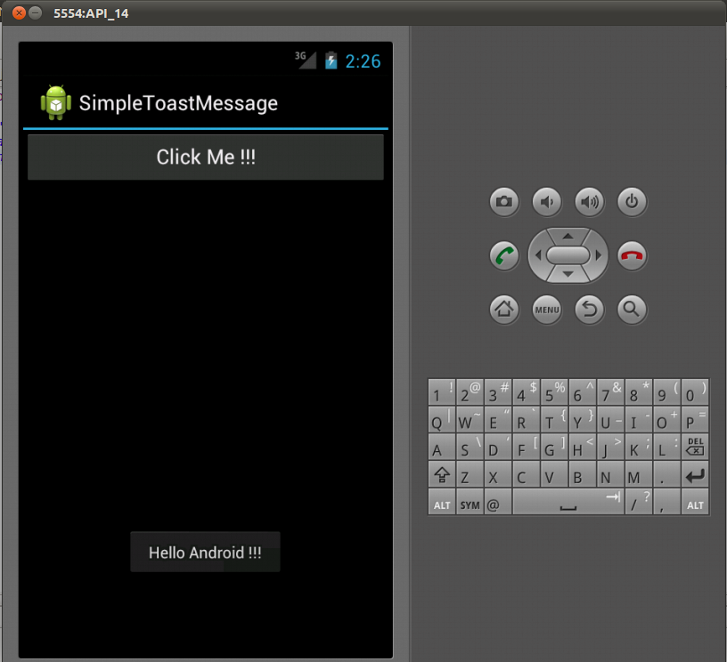 A Simple Toast Message in Android | Knowledge by Experience