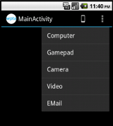 Action items in Action bar for Pre Honeycomb versions