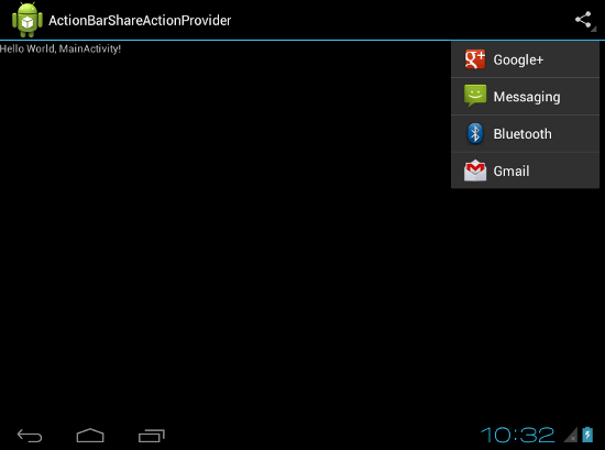 Share Action Provider