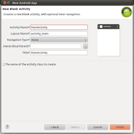 Enter activity Details