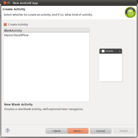 Select Activity Type