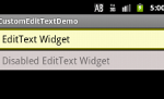 EditText Widget