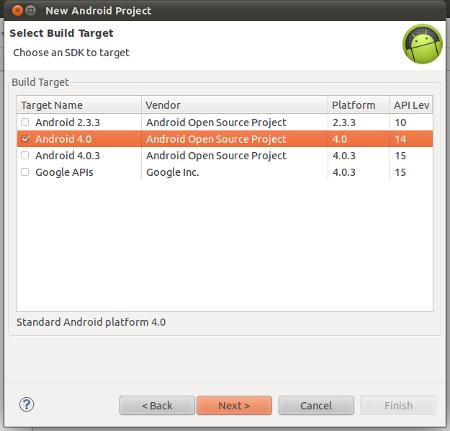 Select build Target