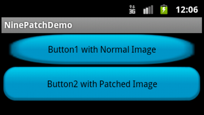 Buttons with Normal Image and Patched Image