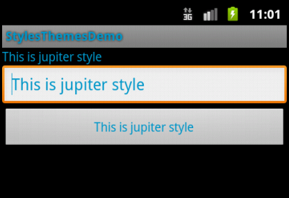 "Activity Screen with ""jupiter"" theme applied"