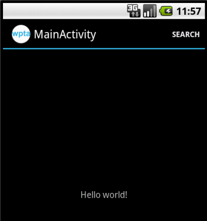 Screenshot of the MainActivity Screen