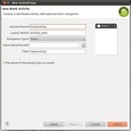 Enter main activity details