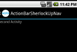 Action bar with Up hierarchical navigation