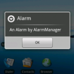 Device Wakes up on alarm goes off