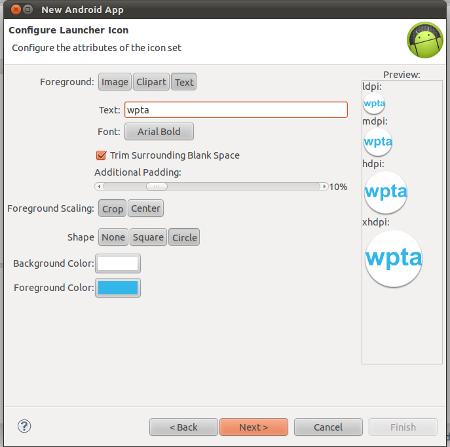 Design application launcher icon