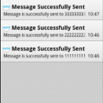 Listing Notifications of SMS Send Status