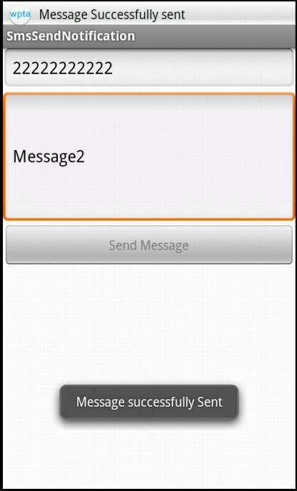 Sending Sms Text Message