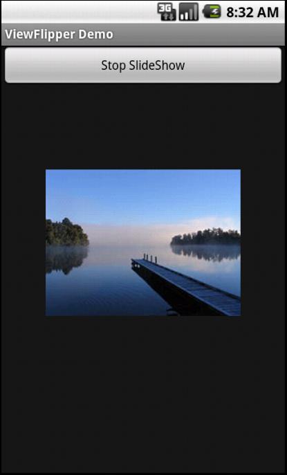 Image Slideshow using ViewFlipper