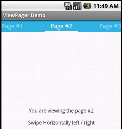 Implementing Horizontal View Swiping Using ViewPager and