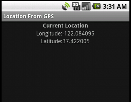 Android GPS with LocationManager to get current location – Example