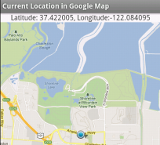 Showing current location in Google Map