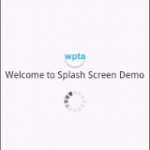 Welcome Splash Screen in Action