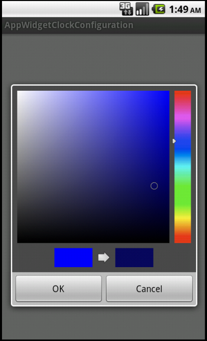 "On clicking the ""Set Color"" button, AmbilWarna Color Picker Dialog is opened"