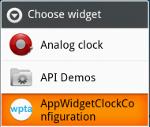 App Widget Configuration Activity in Action