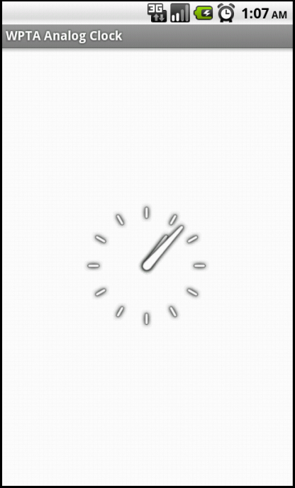 Android Home Screen App Widget Analog Clock | Knowledge by Experience