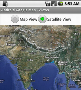 Switching between map view and satellite view