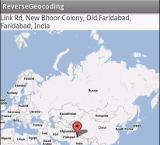 Reverse Geocoding in action