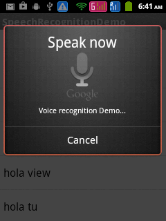 Android Speech Recognition – Demo   Knowledge by Experience