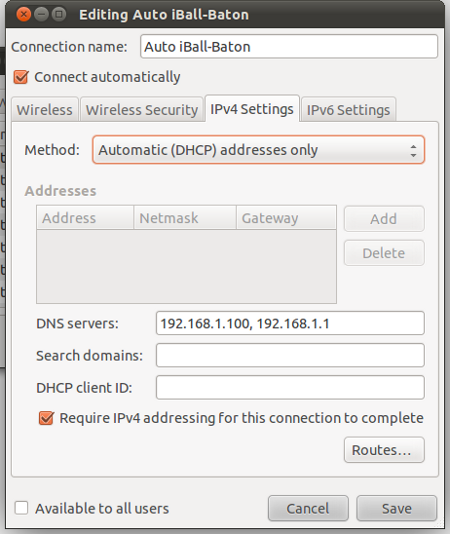 Adding NameServer's IP address to /etc/resolv.conf via NetworkManager