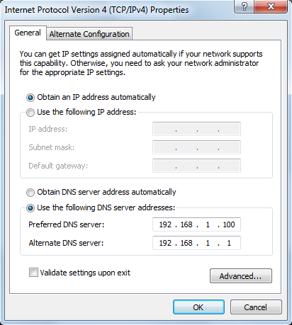 Adding Name Server's IP address to Network Connection