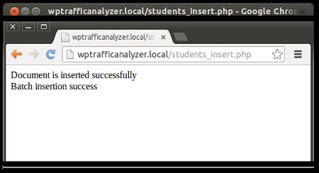 A php program to insert data into MongoDB database