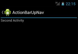 Action bar with up navigation enabled