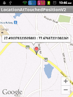 Showing Marker on the Touched Position of the Google Map Android API V2