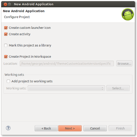 Configure the application project