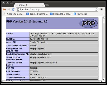 Installing PHP5 in Ubuntu 12.04 LTS