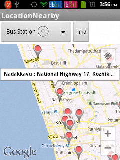 Showing Nearby Places Using Google Places Api And Google
