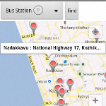 Showing Nearby locations in Google Map using Google Places API
