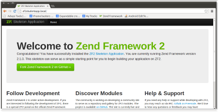 Starting up Zend Framework 2 Web Application