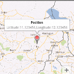 Showing user input location in Google Map Android API V2