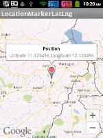 Showing Marker at user input latitude and longitude