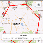 Drawing polyline and markers along taped positions of Google Map Android API V2
