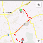 Drawing route between 2 locations in Google Map Android API V2