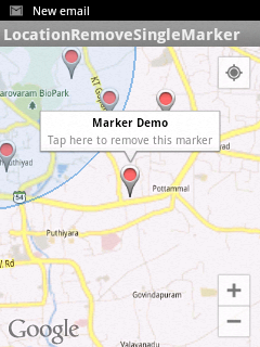Remove a single marker from Google Maps Android API V2 on clicking
